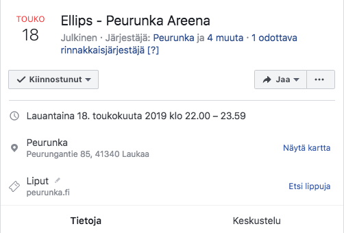 Peurungan Facebook-tapahtuma