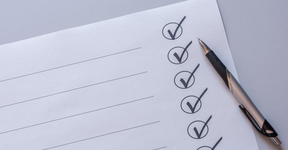 Lipunmyynnin checklist