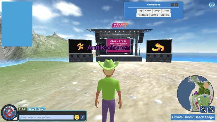 3D-virtuaalitapahtuman järjestäminen